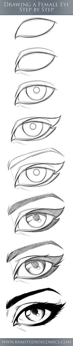 REALISTIC eye drawing in 3 steps. Now it's easier to draw a picture! # In # steps # Now # drawing # draw REALISTIC eye drawing in 3 steps. Now it's easier to draw a picture! # In # steps # Now # drawing # draw Eye Drawing Tutorials, Drawing Techniques, Drawing Tips, Art Tutorials, Painting & Drawing, Drawing Ideas, Drawing Drawing, Drawing Stuff, Drawing Skills