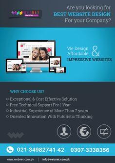 Experience the best Website Design from WebNet..!! Contact us : 021- 34982741-42 www.webnet.com.pk info@webnet.com.pk