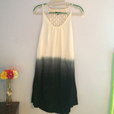 Swim cover up/ summer dress Love this dress it's just to big, can wear as a swim cover or dress. Colors- White to gray to black Raviya Dresses