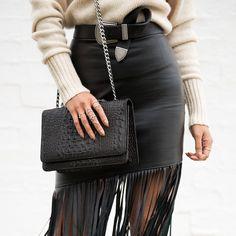 Cashmere, leather + silver details // @micahgianneli xx
