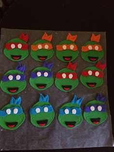 Peace, Love, & Cake: Teenage Mutant Ninja Turtles Cupcakes