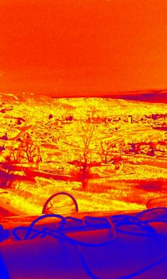 Thermal image Thermal Imaging, Celestial, Sunset, Image, Painting, Outdoor, Art, Outdoors, Art Background