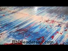 ▶ Painting a Large Abstract Oil Painting - Nicky Henderson - YouTube