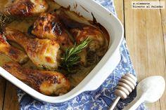 Receta de pollo asado con miel y mostaza