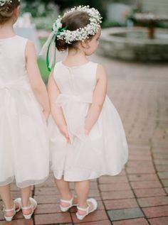 flower girls with flower hair crown wreaths for wedding | Jen and Jonah Fine Art Film Photographers