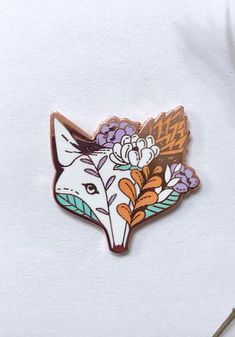 Succulent Fox Pastel Enamel Pin {affiliate}
