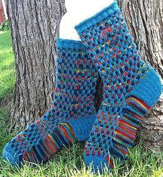 Mosaic Socks -- knitting pattern