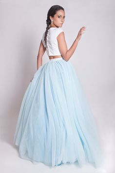 Hey, I found this really awesome Etsy listing at https://www.etsy.com/listing/227133012/sky-blue-floor-length-tulle-skirt-50s