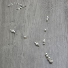 Collier bijou mariage JENNA, perles nacrées, strass Swarovski, bijou mariage, cérémonie, soirée, cocktail