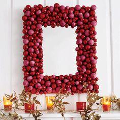 Transform a mirror into a holiday masterpiece! #decor