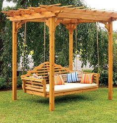 Daybed swing--hmm...wasn't going to ask the hubby to build anything else in the backyard but this is tempting, ha.