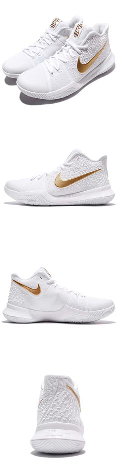 Basketball: Nike Kyrie 3 Ep Iii Irving Finals Nba White Gold Men Basketball Shoes 852396-902 -> BUY IT NOW ONLY: $124.99 on eBay!