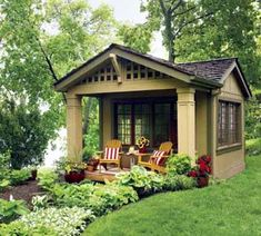 HomeGoods | You Decide: Garden Shed or Backyard Retreat #greenhouse