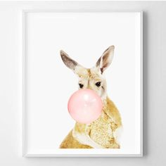 Kangaroo Print Nursery Art Wall By Wallart2decor