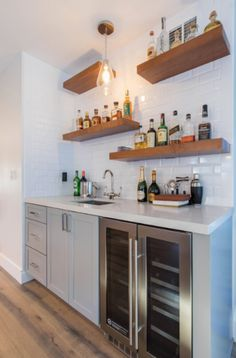 63 Home Wet Bar Design Ideas | Sebring Design Build Wet Bar Basement, Basement Bar Designs, Basement Ideas, Basement Finishing, Wet Bar Designs, Home Bar Designs, Bar Outdoor, Bar Sala, Home Bar Rooms