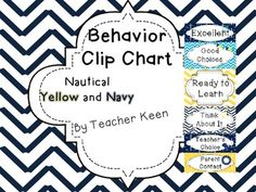 This is a free behavior clip chart in the yellow and navy nautical theme! Since this is a freebie, please leave feedback! Oh and don't forget to follow :) For use: Print on cardstock, cut out, and place in your classroom as a behavior chart. In my classroom, I use clothespins with student numbers on them to track student behavior througout the day.