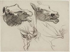 Year of the Horse. John Singer Sargent, Sketch for Gog and Magog - Horses' Heads - Boston Public Library Murals, 1903-16.