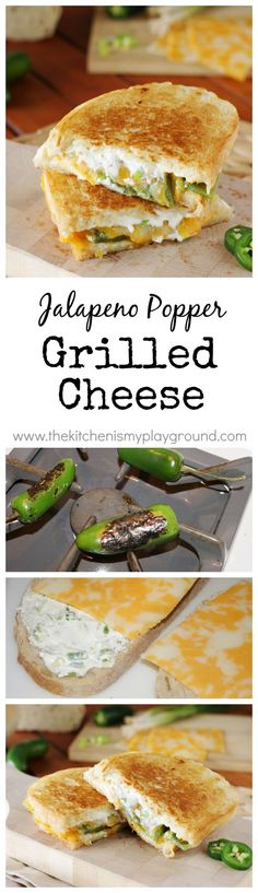 Jalapeno Popper Grilled Cheese ~ it will be your new favorite grilled cheese! www.thekitchenismyplayground.com