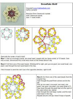 free pattern easy beaded pendant #pendant #donut