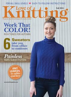 Love of Knitting  Fall 2016 - p.37 - Fitted turtleneck w/ 3/4 sleeve