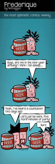 Countdown party - from the indie webcomic, Frederique