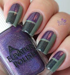 Easy Color Block Nail Art