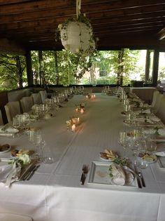 #allestimenti per un #matrimonio d'estate con vista sul parco del #Cadelach  http://www.cadelach.it/i-ristoranti/la-baracheta.php #ristoranti #revinelago #treviso