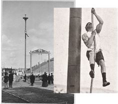 Rope climbing was one of the sports in the original Olympics of 1896. It was its own event a few times and was part of the gymnastics competition in some other Games but departed permanently in 1932.