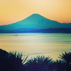 Mount Fuji sunset at Enoshima Island