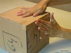 Tuto DIY Fiche pour fabriquer boite en carton - kraftage angle 6 Cardboard Paper, Diy Paper, How To Make Box, Diy Box, New Pins, Crochet Granny, Miraculous, Images, Design