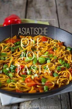 Rezept für asiatische One-Pot-Pasta   Recipe for vegan Asian-Style One-Pot-Pasta by ÜberSee-Mädchen
