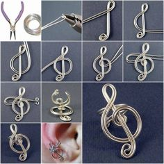 DIY Craft Project: Treble Clef Ear Cuff - Find Fun Art Projects to Do at Home and Arts and Crafts Ideas