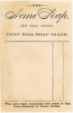 Vintage Soap Ephemera Image