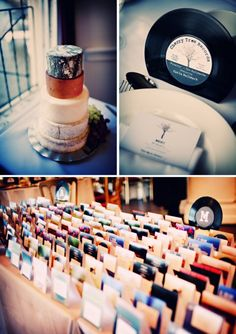 Real weddings + their wedding playlist. Also seating chart on old records. Love this because Garrett & I met listening to records. Old Records, Vinyl Records, Wedding Photography Inspiration, Wedding Inspiration, Wedding Ideas, Vinyl Cafe, Easy French Twist, Wedding Ceremony Music, 500 Days Of Summer