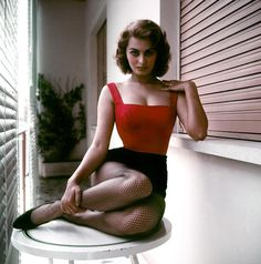 Sophia Loren at home, 1955.