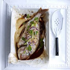 Soy-baked Whole Snapper