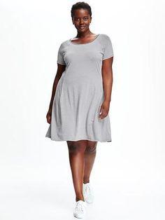 64fcec2aea3 Swing Tee Plus-Size Dress  dresses Navy Blouse
