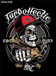 Skull Gangster Art Print by cybermall - X-Small Skull Pictures, Classic Harley Davidson, Skull Wallpaper, Skull Tattoos, Skull Art, Graffiti Art, Minions, Cyber, Street Art