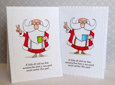 Jane's Doodles - Santa Peace