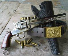 Frank James' Remington 1875, nickel plated, .44-40 caliber pistol.