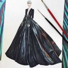 @liyuchun.official in @julienfournie the 69th Cannes International Film Festivalby illustration by me. #fashiongirl #fashionillustration #illustration #fashion #style #hautecouture #beauty #watercolor #fashionsketchs #sketch #gown #detail #drawing #fashioninsta #fashionweek #instalook #paris #watercolorat #fashionshow#liyuchun #artwork#cannes2016