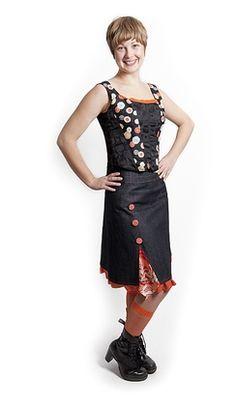 Button and Frills Skirt from Yogini Sreetwear waratah karloo | Blue Caravan Ethical Design Market