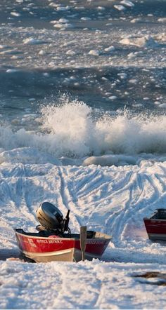 Waves crash on the Bering Sea shoreline in Savoonga on April 19, 2017. Many in the village say this spring was the earliest they can remember ice going out, something that complicates walrus hunting. (Marc Lester / Alaska Dispatch News)