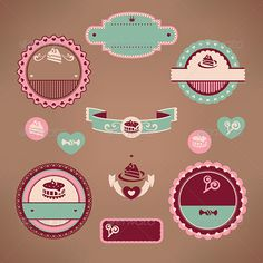 Set of Vintage Bakery Labels  #GraphicRiver         Set of vintage bakery labels vector illustration with mesh gradient only on background, no other gradient or transparency, EPS vector file     Created: 16July13 GraphicsFilesIncluded: VectorEPS Layered: No MinimumAdobeCSVersion: CS Tags: abstract #badge #bakery #border #cake #cookies #cupcake #decor #decoration #decorative #design #dessert #element #emblem #food #frame #graphic #heart #icon #illustration #label #pie #retro #sweet #symbol…