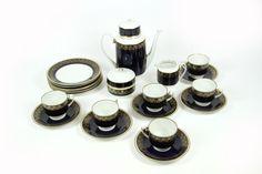 DDR Kaffeeservice Echt Weimar Kobalt Porzellan