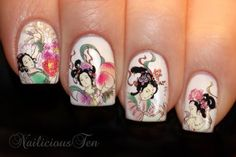 $5 Japanese Geisha Nail Art Water Transfer Decal 15pcs Nailicious Ten http://www.amazon.com/dp/B00BERP5CG/ref=cm_sw_r_pi_dp_miQXtb1CVRHXZ999