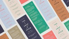 The Swap Show: Lovely Scandinavian Color, Minimalism, Abstraction, Simplicity in the form of Good Clean Typography
