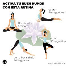 Rutina de yoga para activar el buen humor www.instafit.com