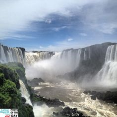 The Iguaçu falls in Brazil look incredible! This is our first #cwtvacationsca #travelphotooftheday of #2013, taken by iger @srpotato01!