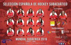Selección Femenina Española Hockey Subacuático 2016